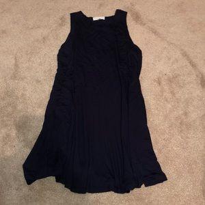 Navy T-shirt flowy dress